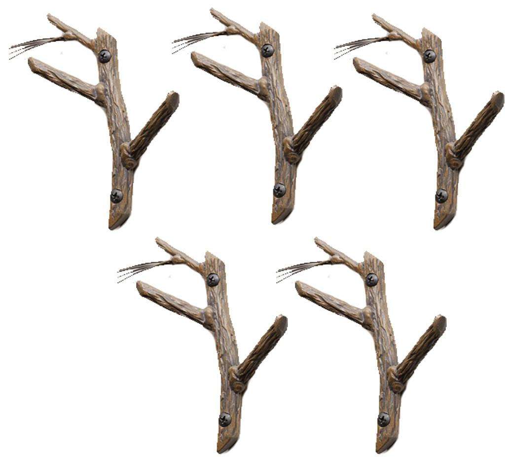 Pine Double Hook- 5 Piece Set