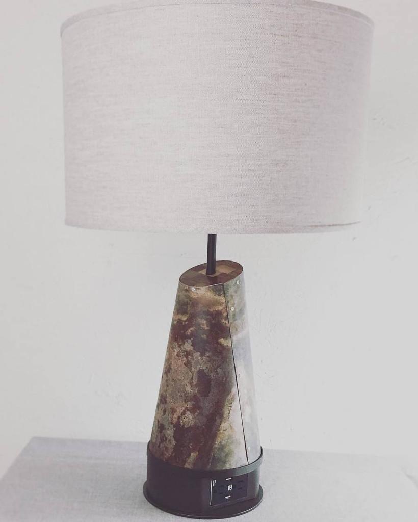 Custom Zinc Table Lamp