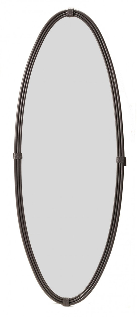 Wrought Iron Wall Mirror Oval Framed Mirror