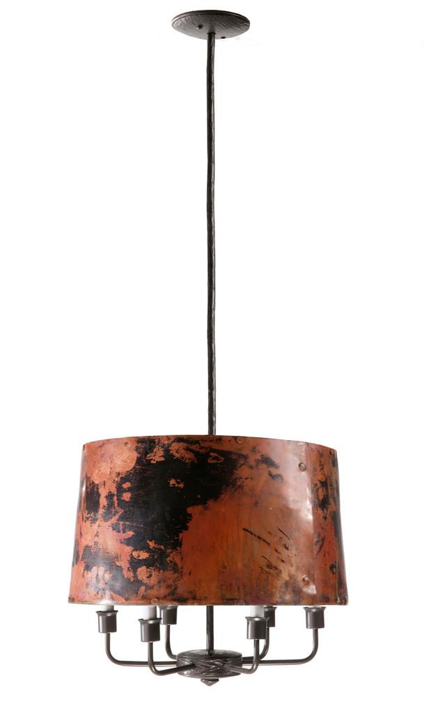 Cedarvale 6 Arm Iron Pendant Lamp