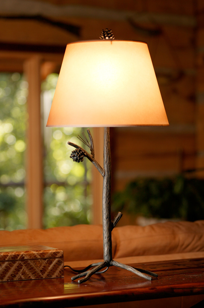 Pine Cone Table Lamp Wrought Iron Lamp Base