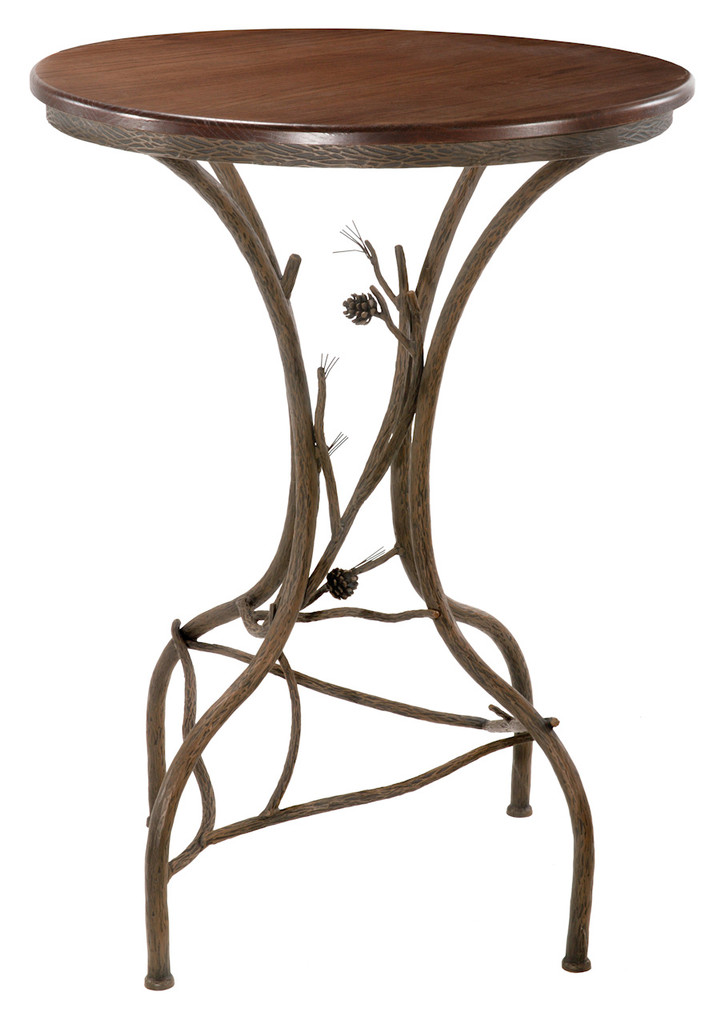 Wrought Iron Bar Table 36 Inch High Table Stone County