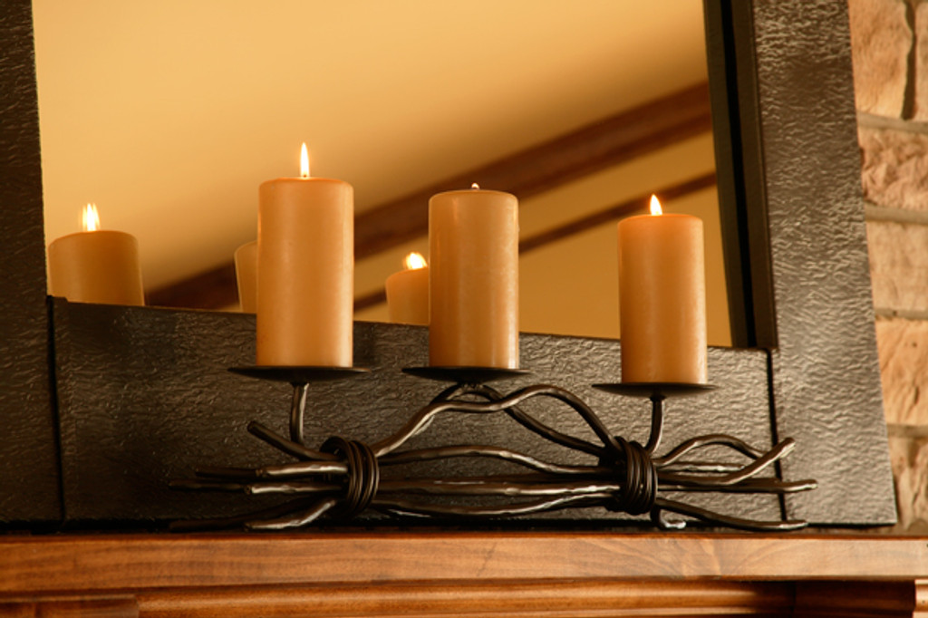 Rush Iron Renaissance Triple Candle holder