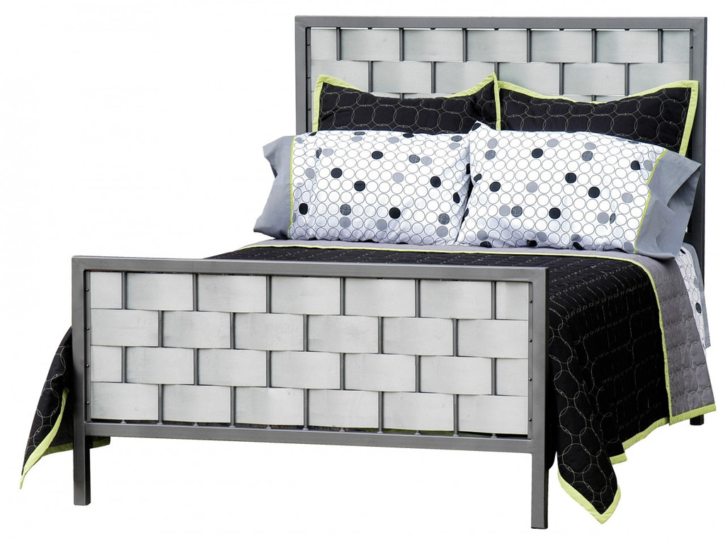 Rushton Cal King Iron Bed  Galvanized
