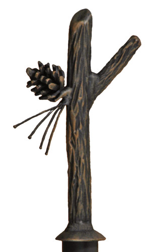 Iron Curtain Finial Pine