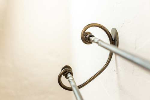 """French Country Iron Double Towel Bar 24"""""""