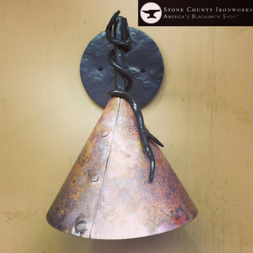 Custom Copper Sconce