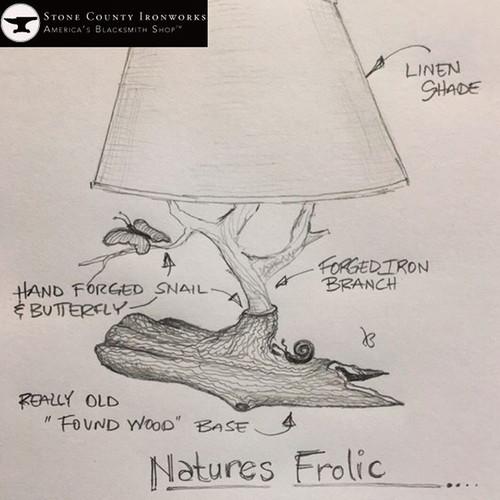 Custom Nature's Frolic Table Lamp