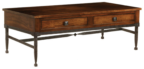 Forest Hill Linden Hand Forged Iron Desk With Walnut Finish