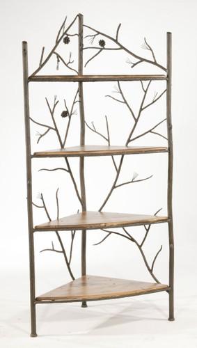 Pine Iron Corner Rack