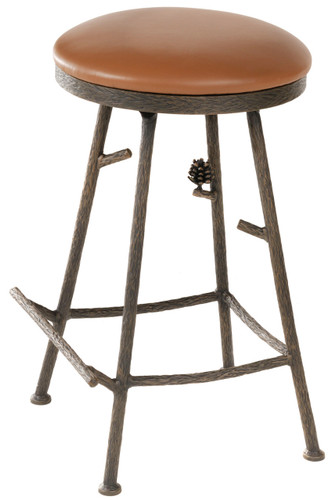 Pine Iron Barstool (Basic)