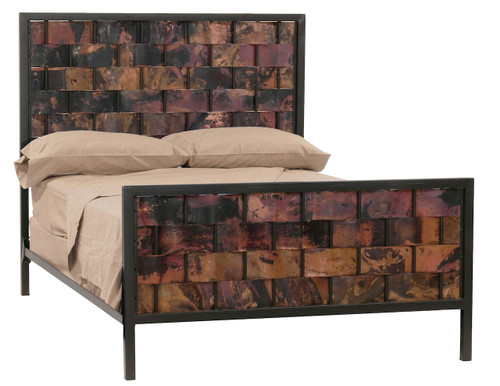 Rushton Queen Iron Bed  Copper
