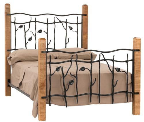 Sassafras Cal King Iron Bed