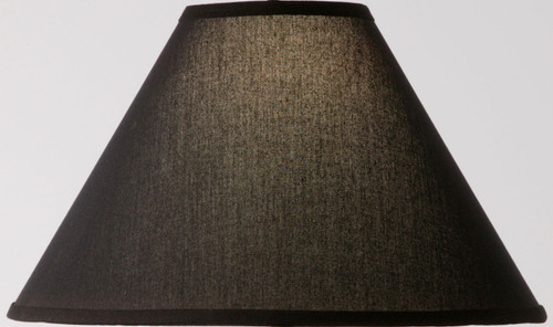 Natural Black Linen Floor Lamp Shade 18 inch