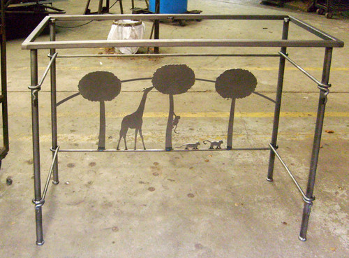 Custom Tripod Table Stone County Ironworks