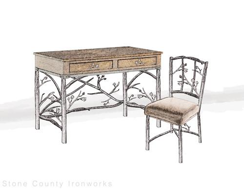 Custom Enchanted Forest Desk & Chair