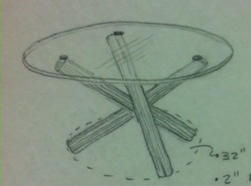 Custom Tripod Table