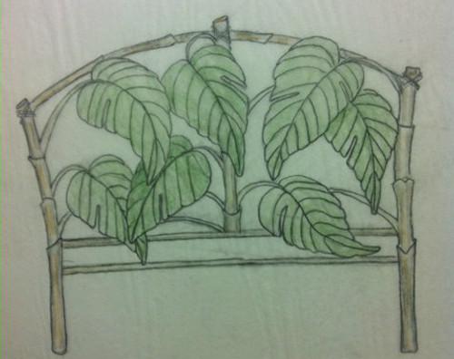 Custom Bamboo Leaf Bed