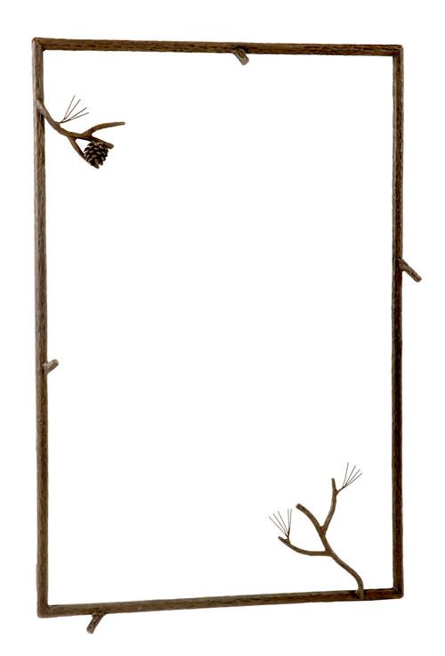 Wrought Iron Framed Mirror Rectangular Framed Mirror
