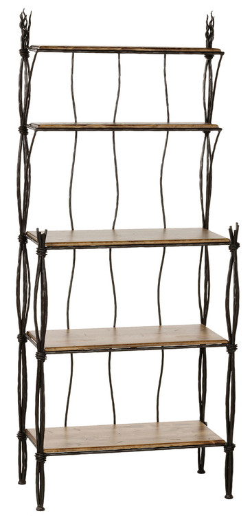 5 Tier Bakers Rack Wrought Iron Shelf Unit