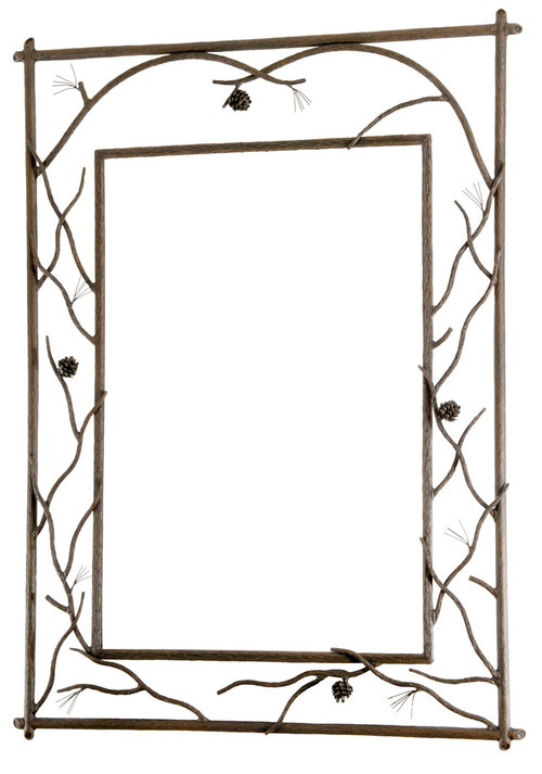 Iron Framed Mirror Rustic Style Mirror Stone County