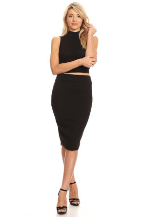 The Solid VIBE Pencil Skirt