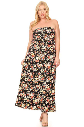 Plus Ruched Belted Maxi