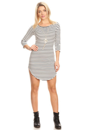 3/4 Sleeve Body Con Dress