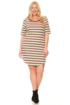 Plus Ribbed Tee Dress