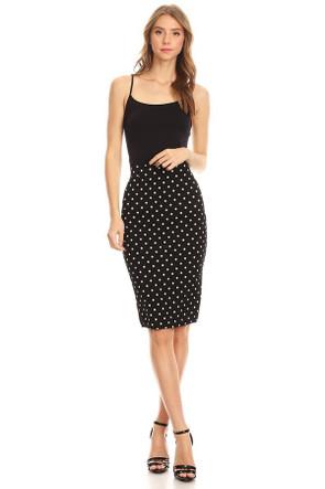 "The ""Polka Dot""  VIBE Pencil Skirt"