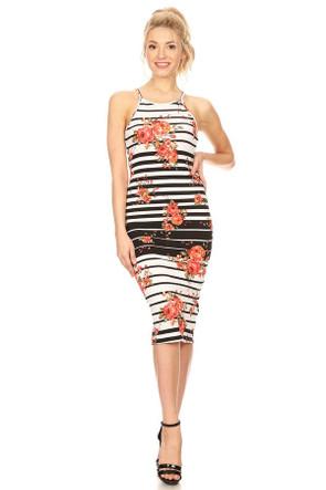 Apron Neck Midi Dress
