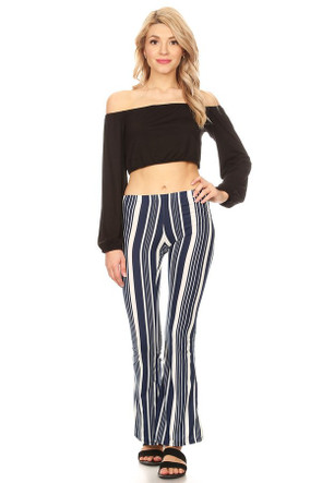 Striped Bell Bottom Pant
