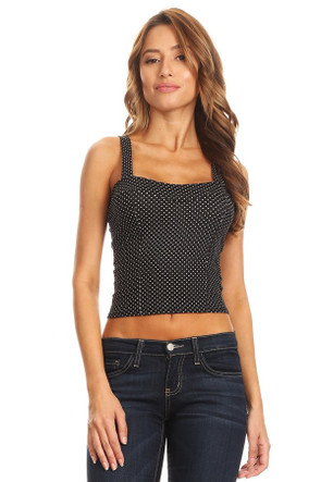 Brushed Bustier Crop Tank