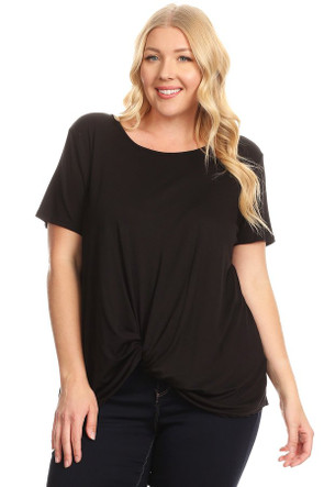 Plus Twist Front Detail Top