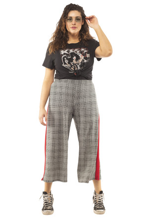 Plus Plaid Culotte Pants