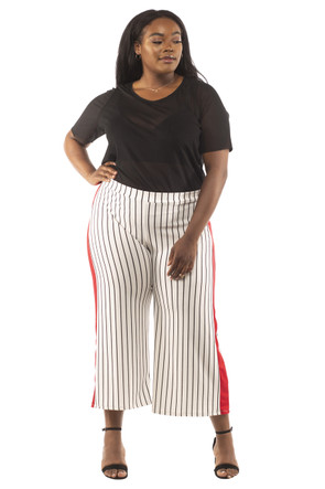 Plus Side Stripe Culotte Pants