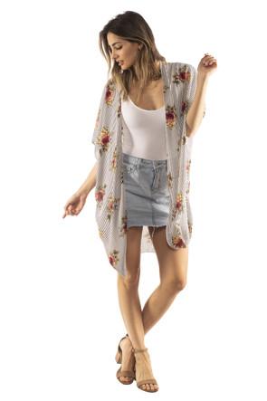 Woven Side Slit Kimono