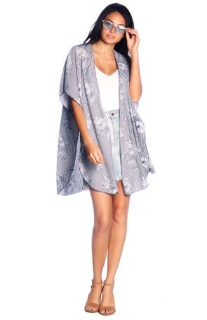 Woven Side Split Kimono