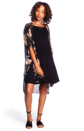 Summer Chiffon Kimono & Dress Set