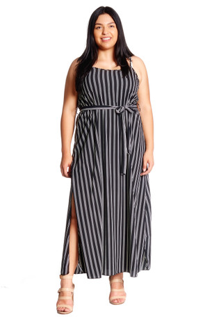 Double Split Woven Maxi Dress