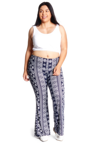 Plus Aztec  Bell Bottom Pant
