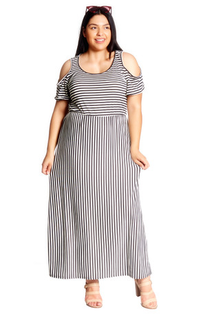 Plus Cold Shoulder Maxi Dress