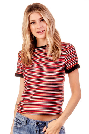 Knit Ribbed Tee