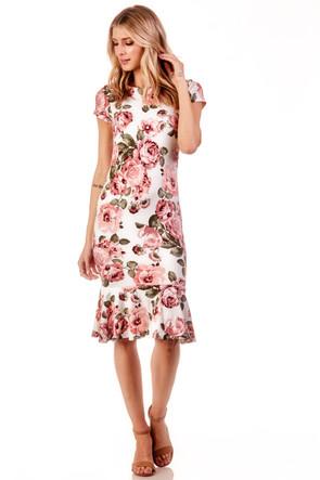 Peplum Knit Midi Dress