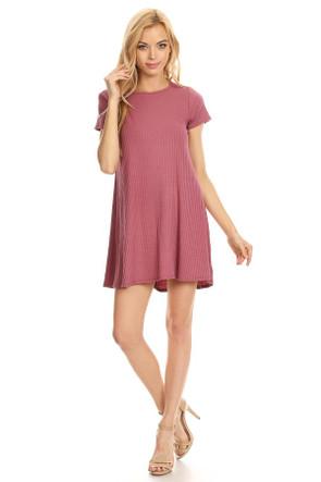 Cap Sleeve Ribbed Trap Dress