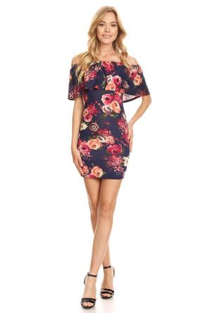 Off The Shoulder Bodycon Mini Dress