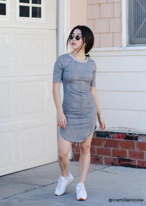 Distressed Brushed Ringer Dress