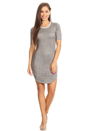 Distressed Brushed Ringer Dress
