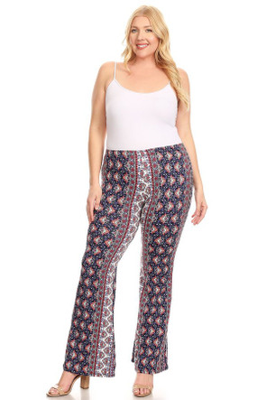 Plus  Boho Bell Bottom Pant