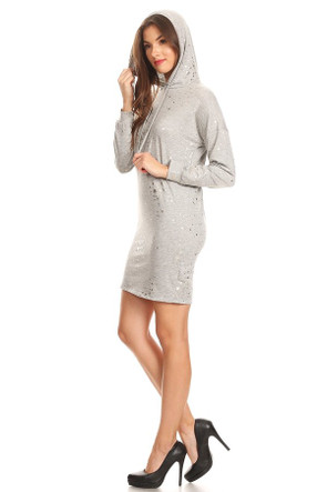 Sweater Knit Hoodie Dress